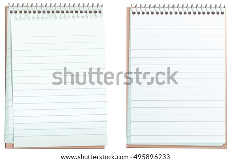 Lined ring bound notepads.
