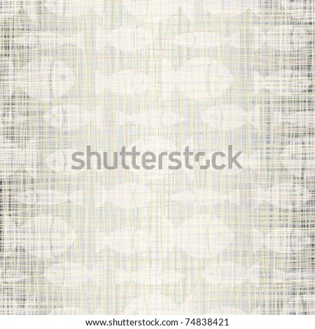 Linen fabric with small fishes