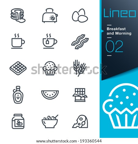 Lineo - Breakfast and Morning outline icons