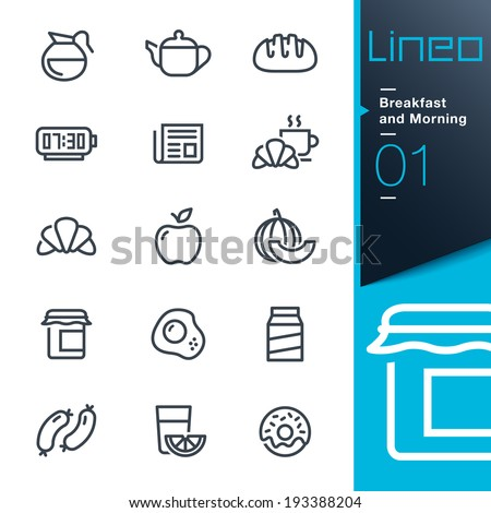 Lineo Breakfast and Morning outline icons