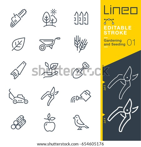 Lineo Editable Stroke - Gardening and Seeding line icons Vector Icons - Adjust stroke weight - Expand to any size - Change to any colour