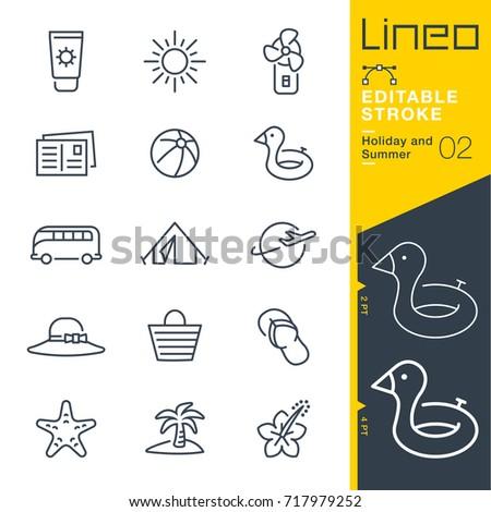 lineo editable stroke   holiday
