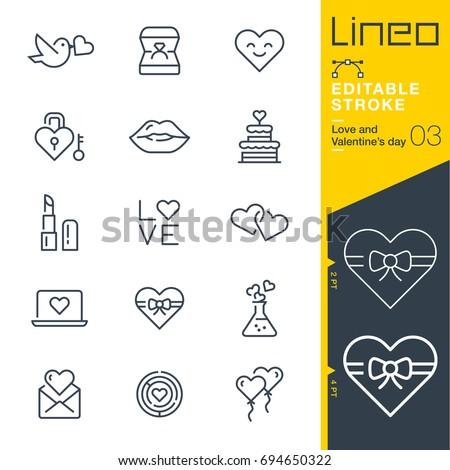lineo editable stroke   love