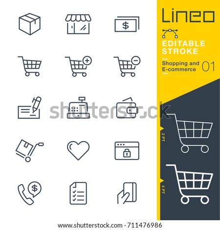 Lineo Editable Stroke - Shopping and E-commerce line icons Vector Icons - Adjust stroke weight - Expand to any size - Change to any colour