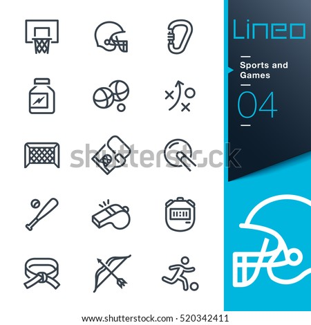 Lineo - Sports and Games line icons