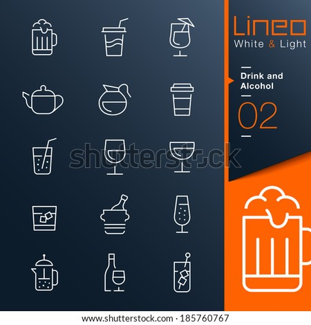 Lineo White & Light Drink and Alcohol outline icons