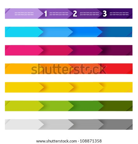 Lines And Numbers Website Design Elements, Vector Illustration