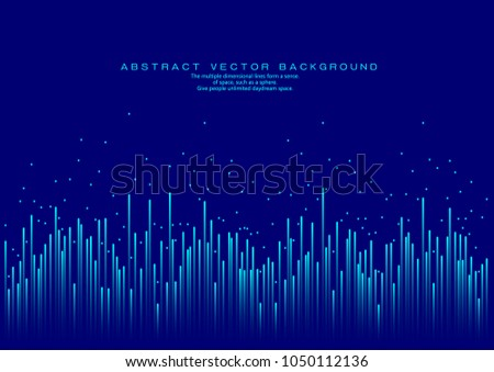 Lines composed of glowing backgrounds, abstract vector background	 #1050112136