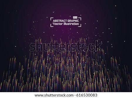 Lines composed of glowing backgrounds, abstract vector background #616530083