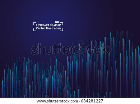 Lines composed of glowing backgrounds, abstract vector background #634281227