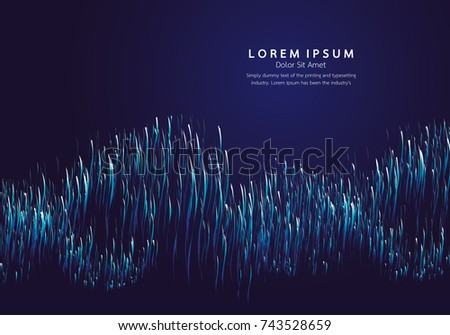 Lines composed of glowing backgrounds, abstract vector background #743528659