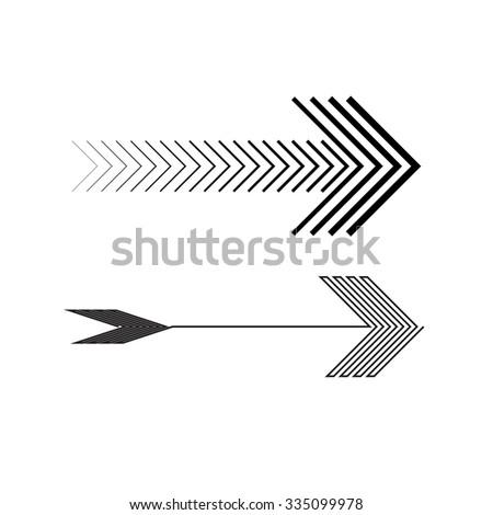 Lines Design . Vector Arrow Background .