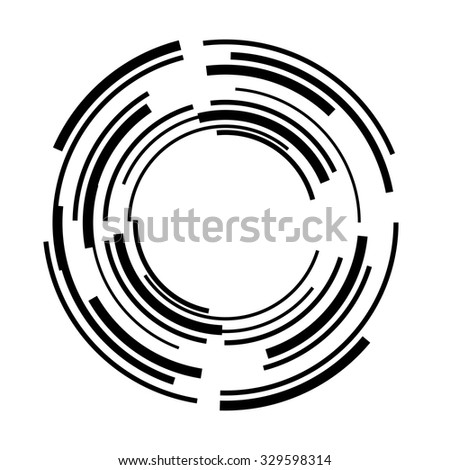 Lines in Circle Form . Vector Illustration .Technology Logo .