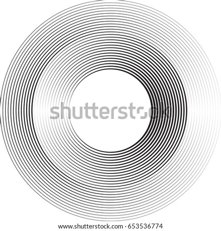 Lines in Circle Form . Vector Illustration .Technology round Logo . Design element . Abstract Geometric shape .