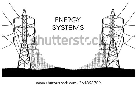 lines of electricity transfers