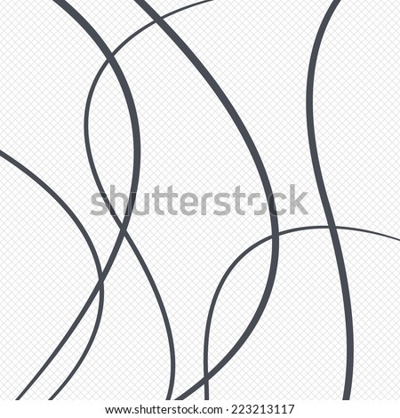 Lines pattern background. Abstract wallpaper with stripes or curves. Grid lines texture. Cells repeating pattern. White background. Vector