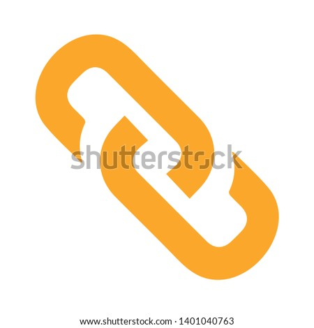 Link chain vector icon. filled flat sign for mobile concept and web design. hyperlink simple solid icon. Symbol, logo illustration. Pixel perfect vector graphics