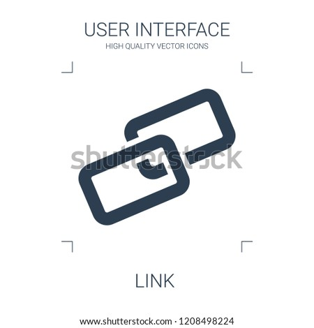 link icon. high quality filled link icon on white background. from user interface collection flat trendy vector link symbol. use for web and mobile