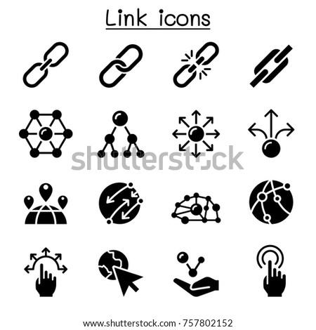 Link icon set