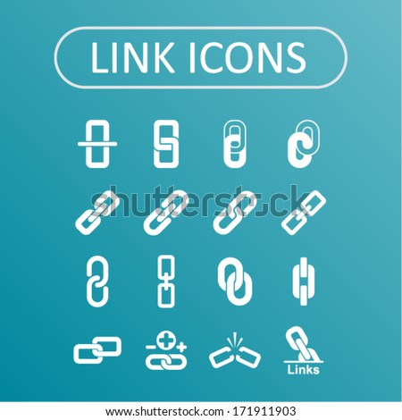 Link icons for web