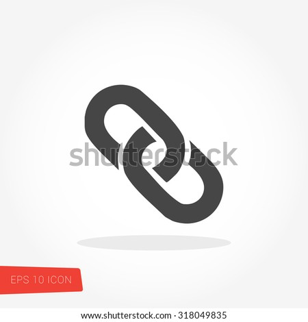 Link Isolated Flat Web Mobile Icon / Vector / Sign / Symbol / Button / Element / Silhouette