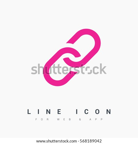 Link isolated single linear icon for websites and mobile minimalistic flat design.