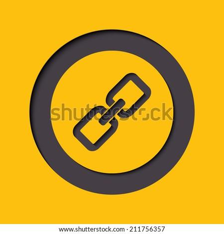 Link Sign Icon. Hyperlink Chain Symbol. Round Button ...