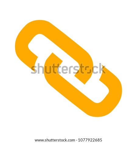 Link sign - vector chain symbol - connection icon, internet security object #1077922685