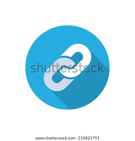 link. vector flat icon with long shadow. eps10
