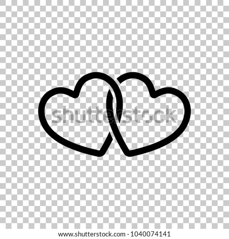 stock-vector-linked-hearts-icon-on-transparent-background
