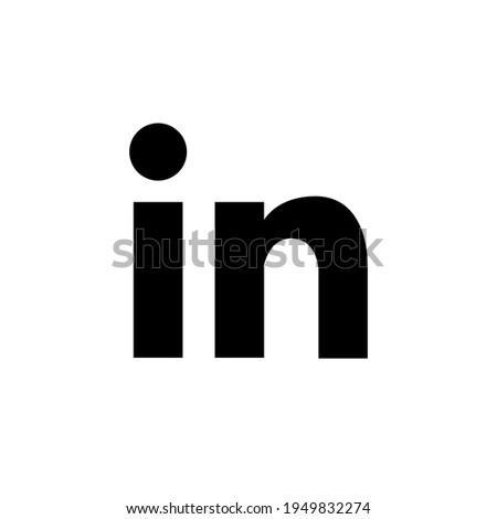 LinkedIn American business icon logo. Vector illustration isolated on white background