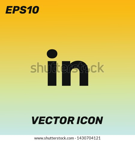 Linkedin vector icon illustration. Linkedin vector logo. Premium quality.