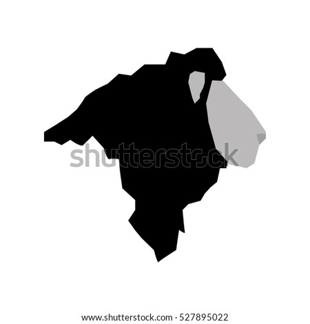 lion african animal icon vector