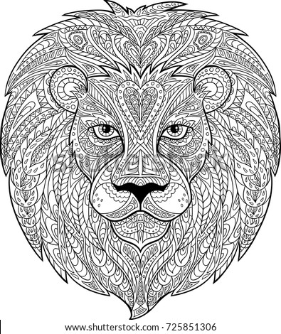 lion draw for coloring