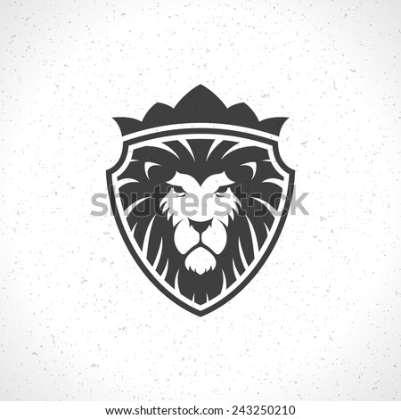 lion face logo emblem template