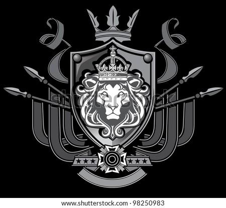 lion flag crest