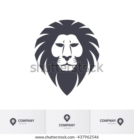 lion head for heraldic or