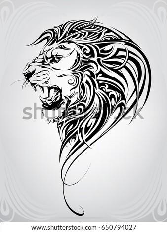 Lion head in the ornament