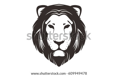 Line Drawing Of A Tiger S Face : Lion head design download free vector art stock graphics images