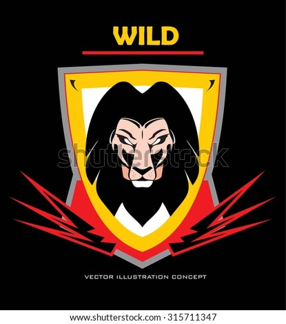 lion head lion head on the