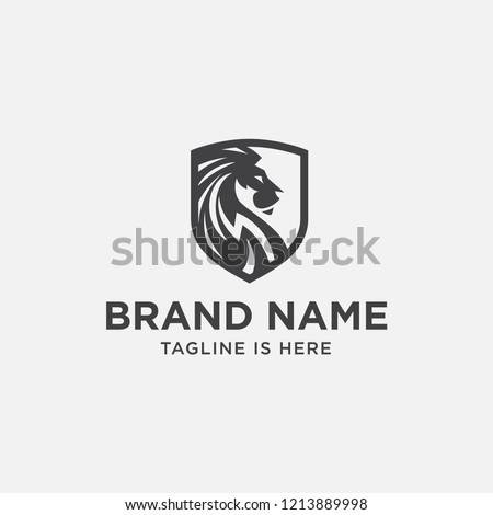 lion head logo design lion
