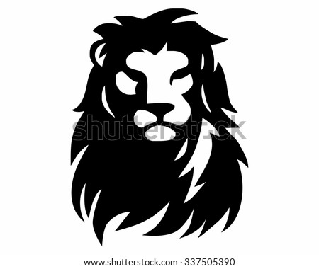 vector images, illustrations and cliparts: lion head logo icon
