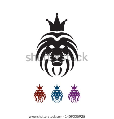 Lion head logo vector concept illustration The Pride and Power sign symbol