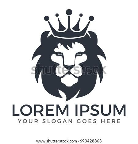 lion head logo vector design