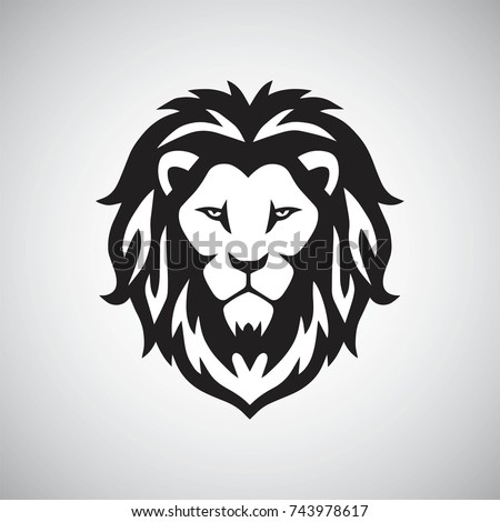 Lion Head Logo Vector Template Illustration Design