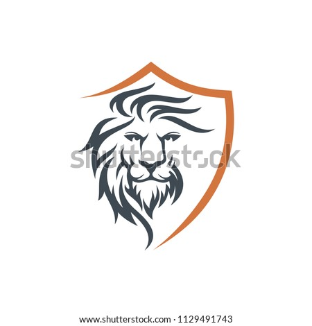lion head mascot stock vector