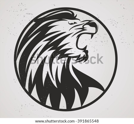 lion head mascot vector and