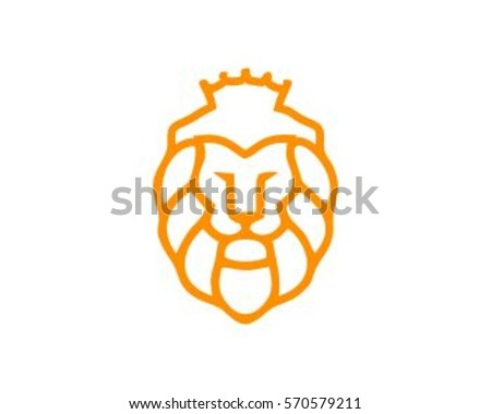 lion head vector design