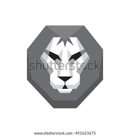 lion head   vector logo sign