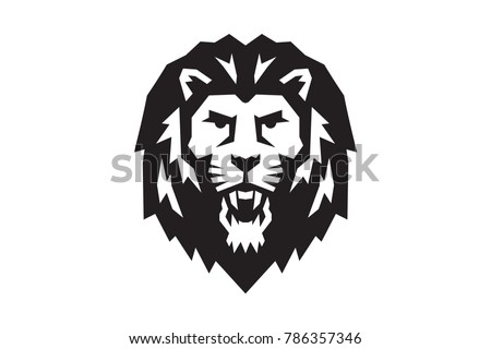 royalty free lion face logo emblem template for 243250210 stock